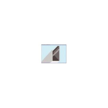PERFIL ALUMINIO INFERIOR PARA PLACAS DE 20MM (X METRO)